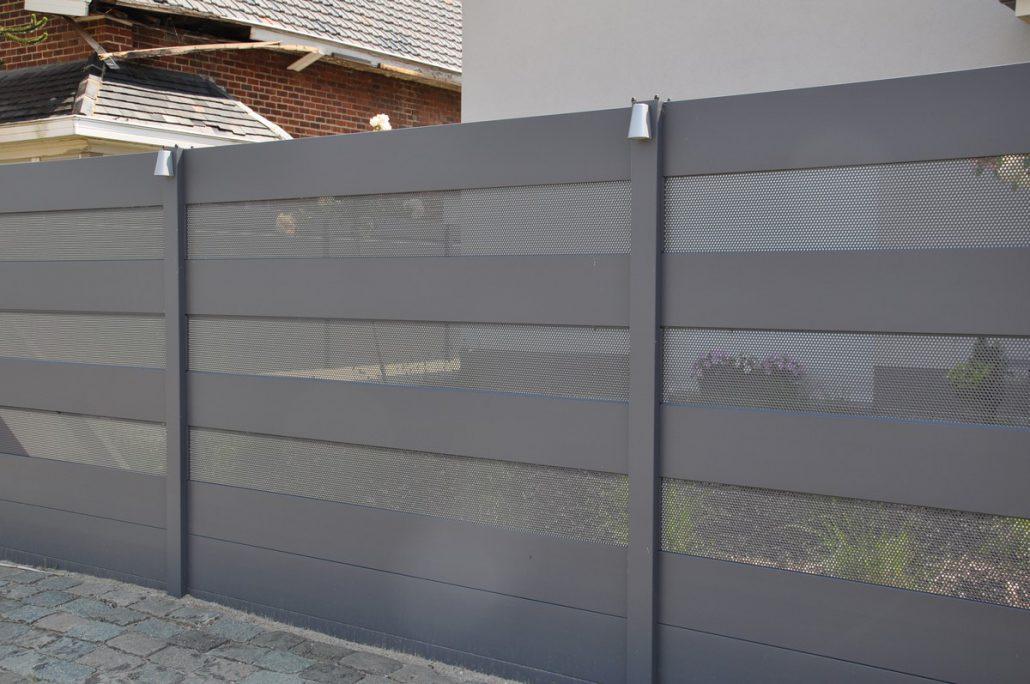 affordable schuttingen in aluminium with schutting verlichting. Black Bedroom Furniture Sets. Home Design Ideas